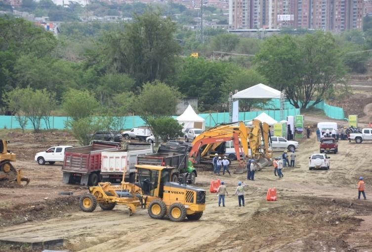 Construcción del Central Park en Bello
