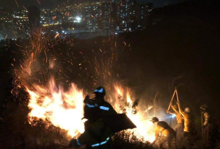 Incendio forestal en el municipio de Bello