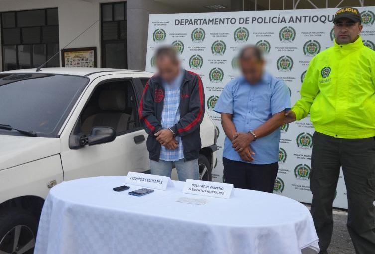 Lo detenidos hurtaban a personas y en viviendas del oriente del departamento