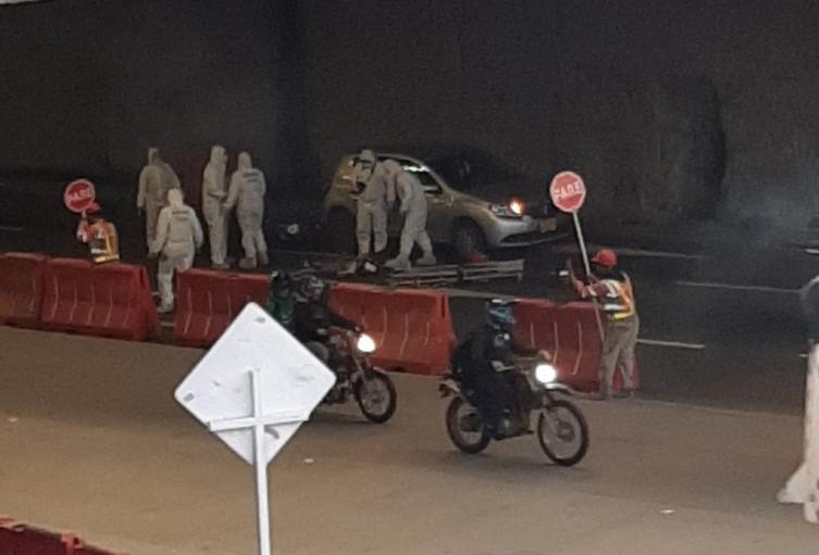 El accidente causó fuerte congestión en la zona