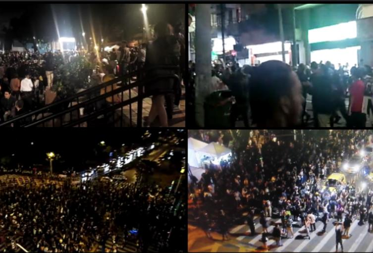 Marchas y cacerolazos en el paro nacional en Medellín.