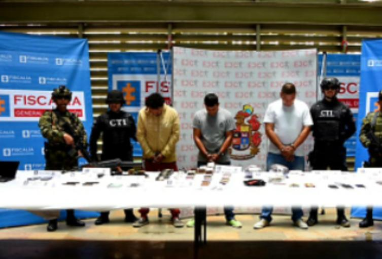 Capturan a 4 cabecillas de red internacional de narcotráfico.