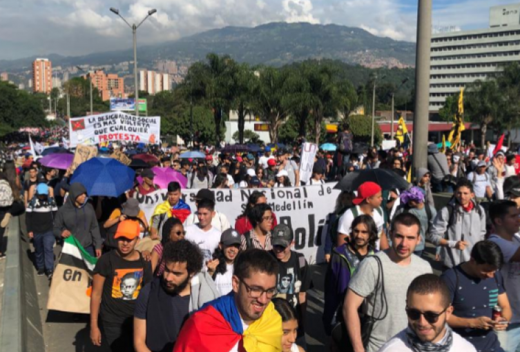 Medellín se prepara para una tarde de movilizaciones y concentraciones