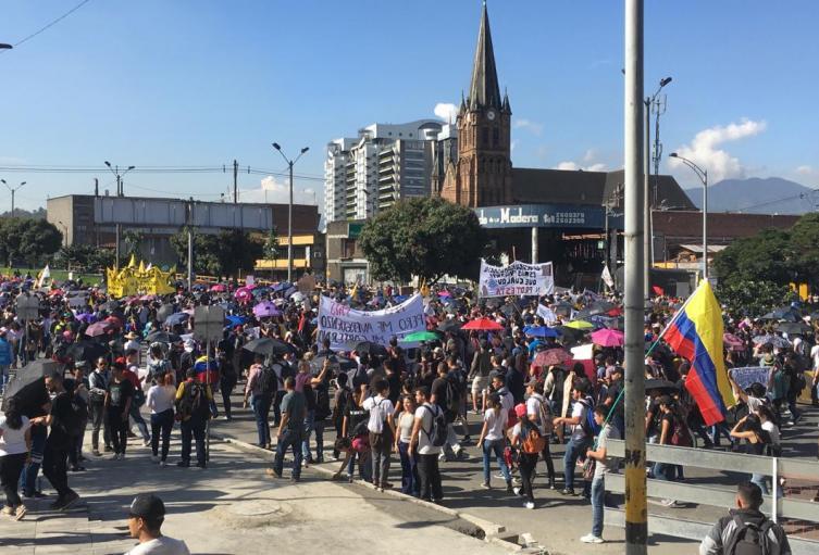 Marchas en Medellín.