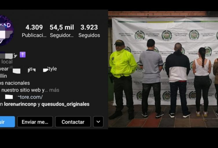 Con 54 mil seguidores en Instagram, desmantelan banda de contrabandistas en Medellín.