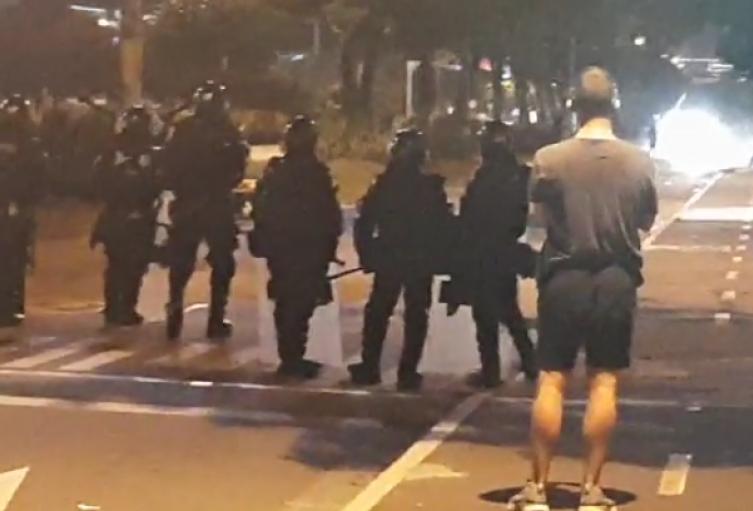 En disturbios terminó marcha en Medellín