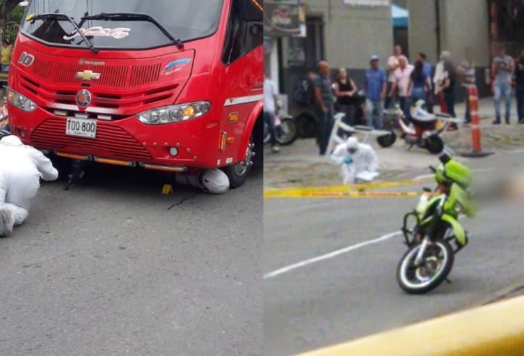 En siniestros viales murieron dos personas en las vías de Medellín