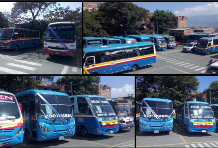 Buses del corregimiento de Altavista en Medellín