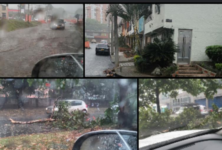 Las intensas precipitaciones obligaron a suspender el servicio del Metrocable.
