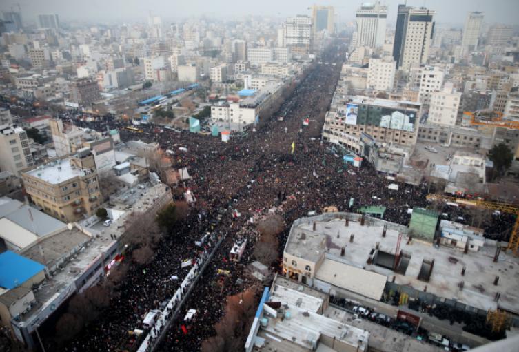 Funeral en Irán de Qasem Soleimani