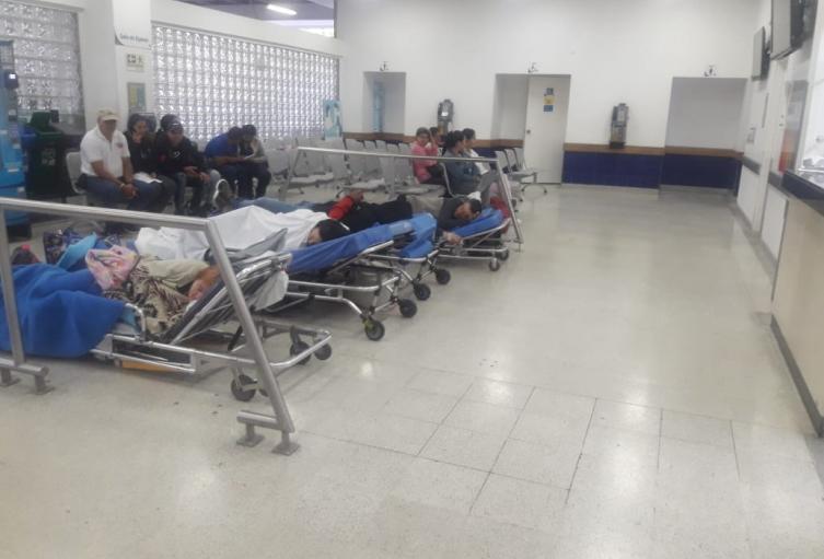 Así está la sala de espera de Urgencias de la IPS Universitaria de Medellín.