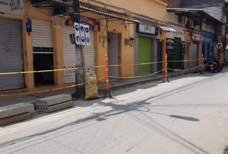 Comercio cerrado en Segovia, Antioquia