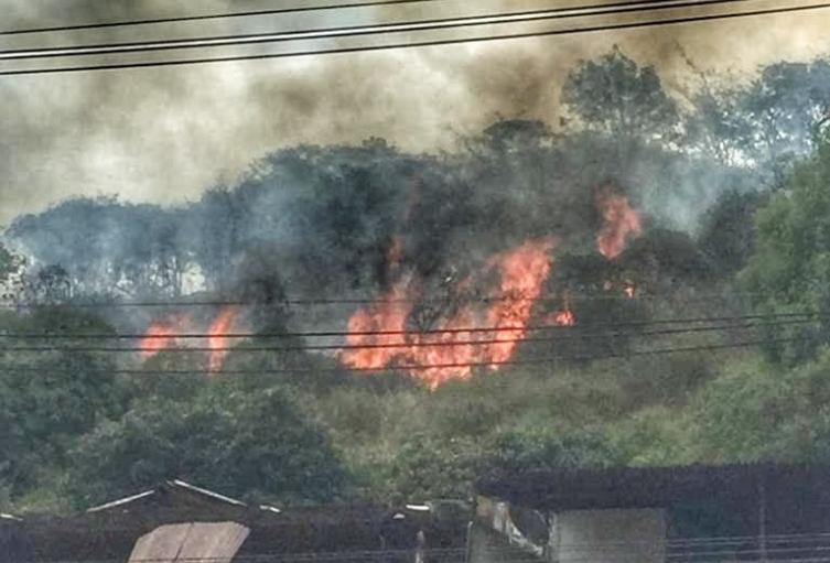Incendio en el cerro El Volador de Medellín