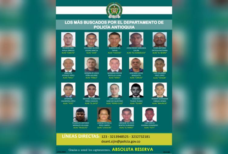 Hasta 87 millones de pesos de recompensa ofrecen las autoridades por la captura de estas personas