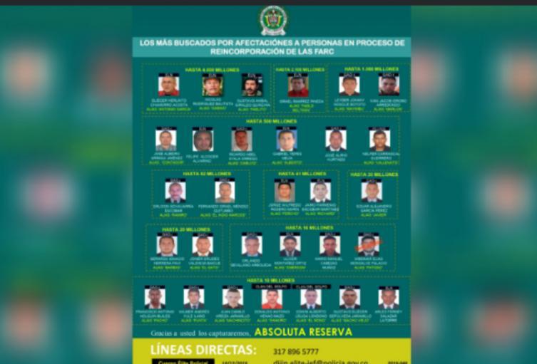 En Antioquia se encuentran tres presuntos asesinos de estos desmovilizados.