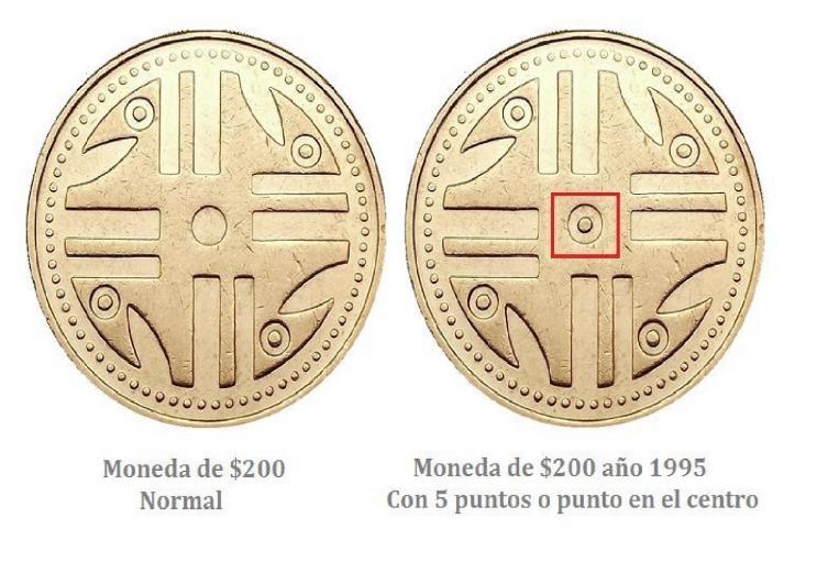 Monedas de $200