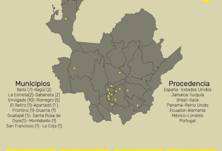 Casos de coronavirus en Antioquia