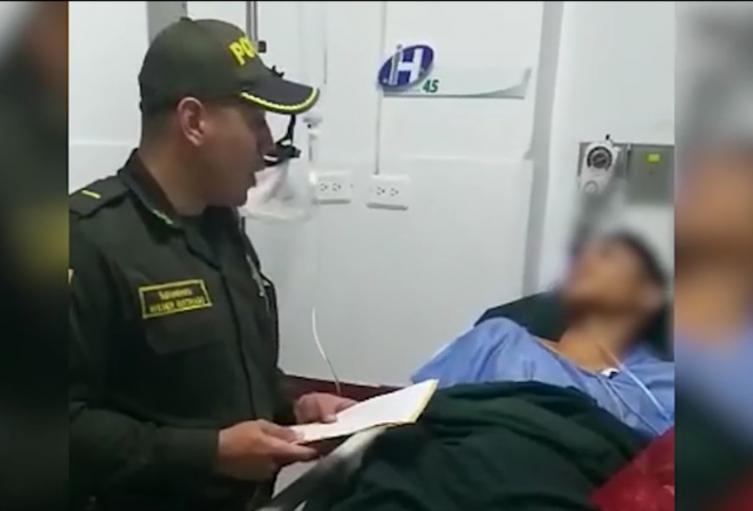 El señalado delincuente fue trasladado a un centro asistencial.