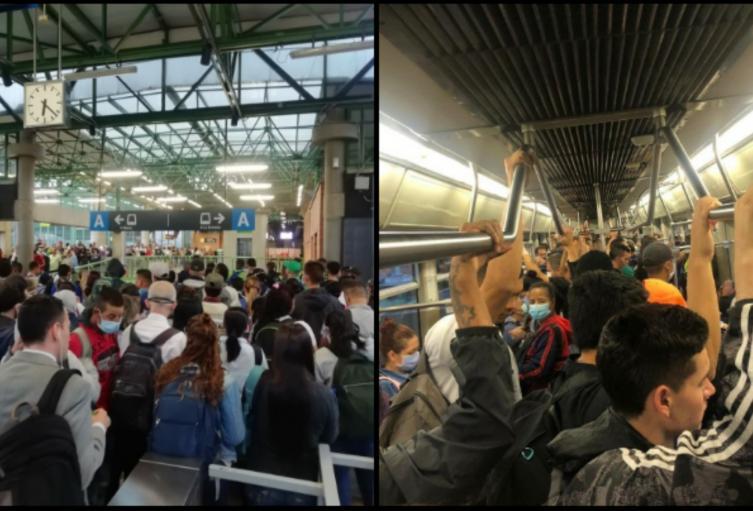 En hora pico el sistema movilizó más de 38 mil usuarios mal distribuidos en los trenes.