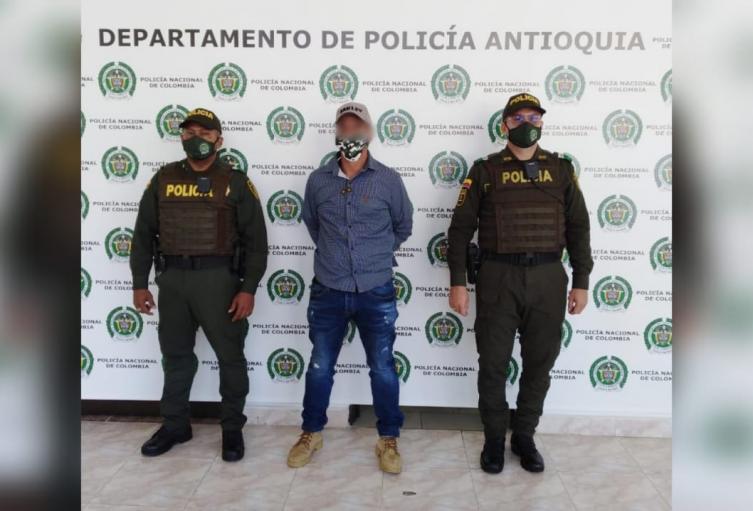 El capturado se desplazaba hacia Urabá a reunirse con cabecillas de este grupo criminal.