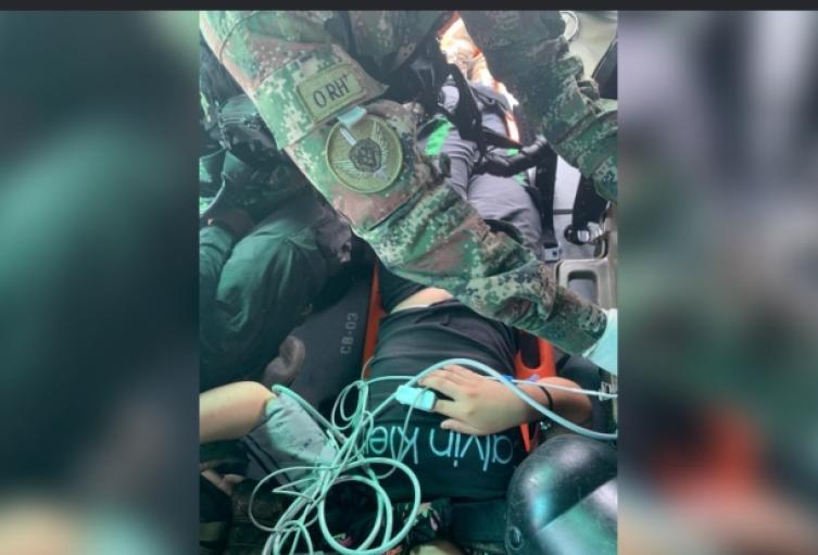 En este operativo uno de los jóvenes resultó lesionado.