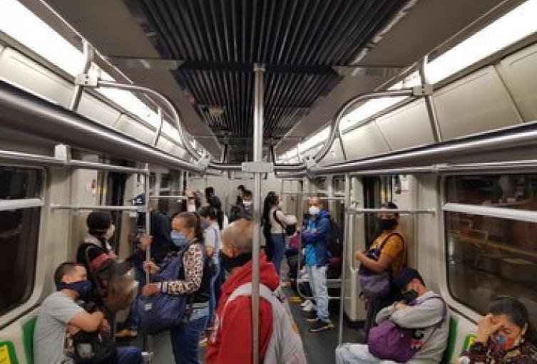 Metro de Medellín en tiempos de la pandemia.