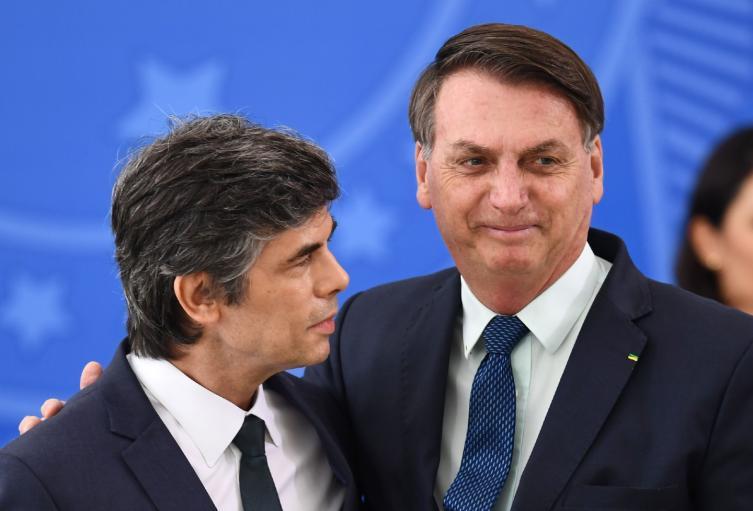 Nelson Teich y Jair Bolsonaro