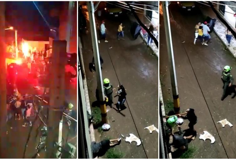 Un policía lesionado y dos personas capturadas dejó riña familiar en Andes, Antioquia