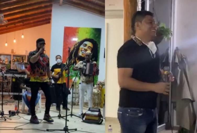Imágenes de la fiesta en una finca de Turbo, Antioquia.