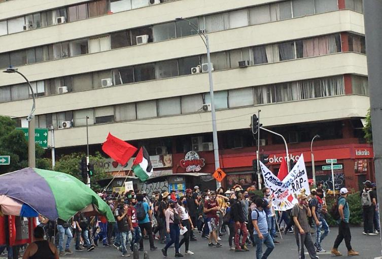 En actos vandálicos terminó marcha de estudiantes en Medellín