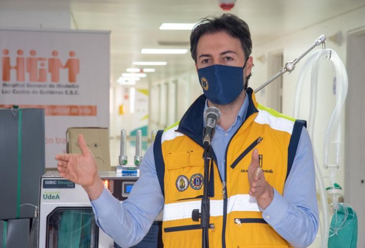 El alcalde de Medellín, Daniel Quintero