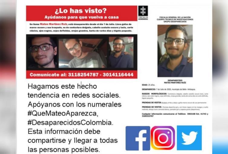 La familia de Mateo Martínez pidió que se investiguen los hechos que rodearon su muerte.