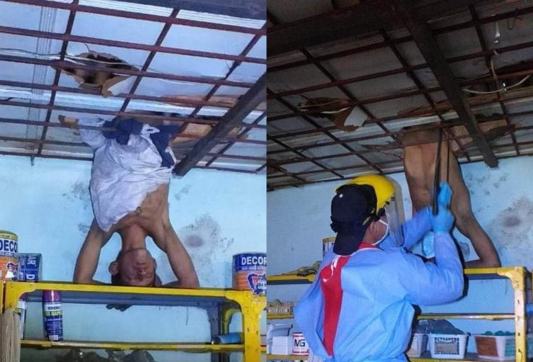 Ladrón quedó atrapado de cabeza en Barrancabermeja