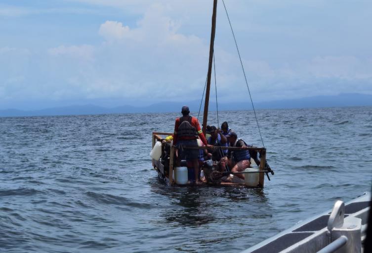 Migrantes rescatados en Necoclí, Antioquia