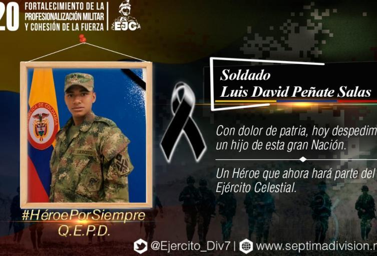 Soldado asesinado en Ituango, Antioquia