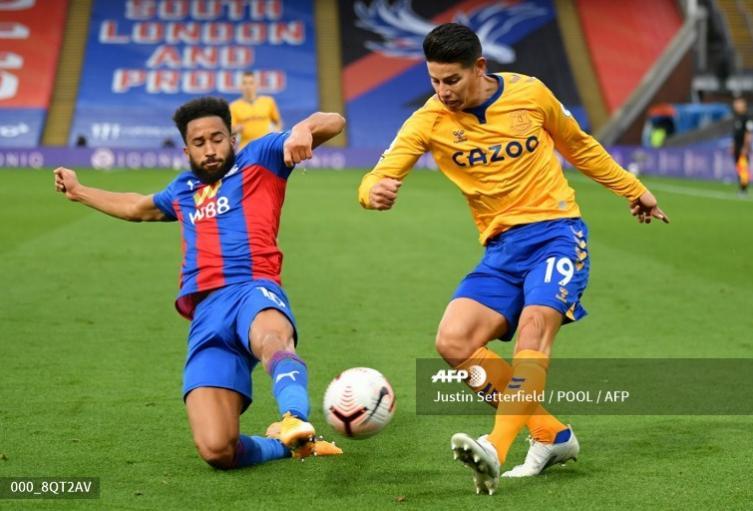 James Rodríguez, jugador colombiano en el Everton