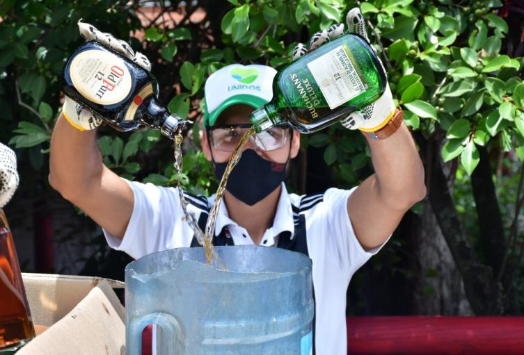 Este líquido fue vertido en la Planta de Tratamiento de Aguas Residuales San Fernando.