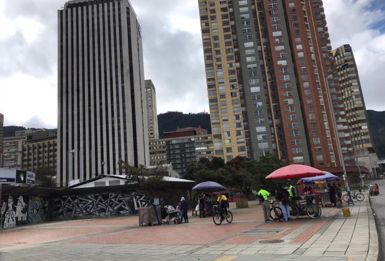 Vendedores informales en la nueva normalidad en Bogotá