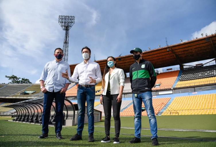 Protocolos listos para los partidos en el estadio Atanasio Girardot