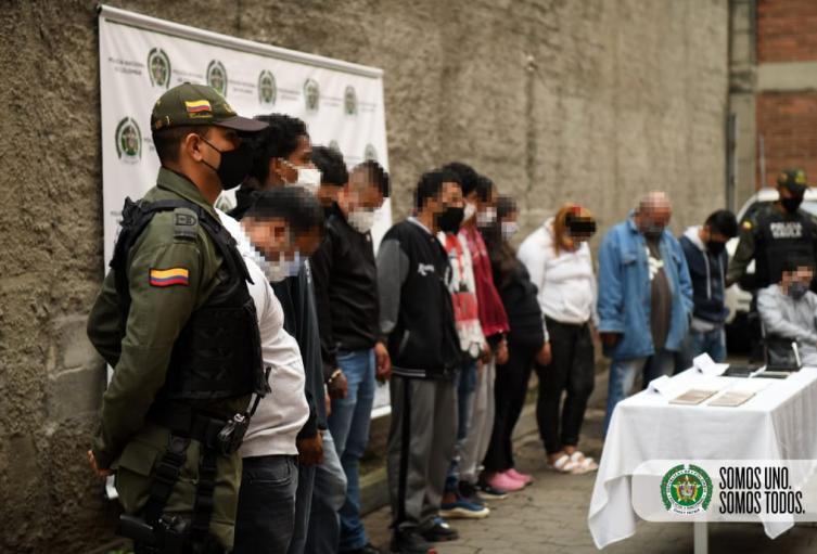 Los procesados fueron detenidos en barrio de la comuna trece.