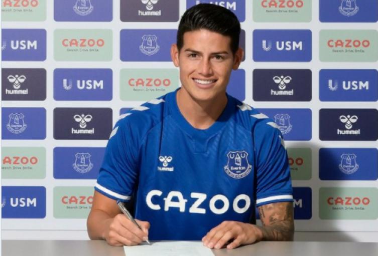 James Rodríguez, nuevo jugador de Everton