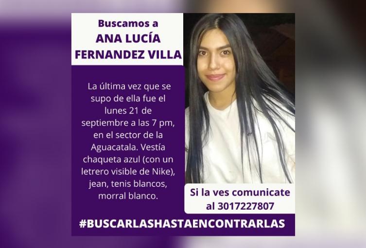 Denuncian la desaparición de una estudiante de 17 años en Medellín