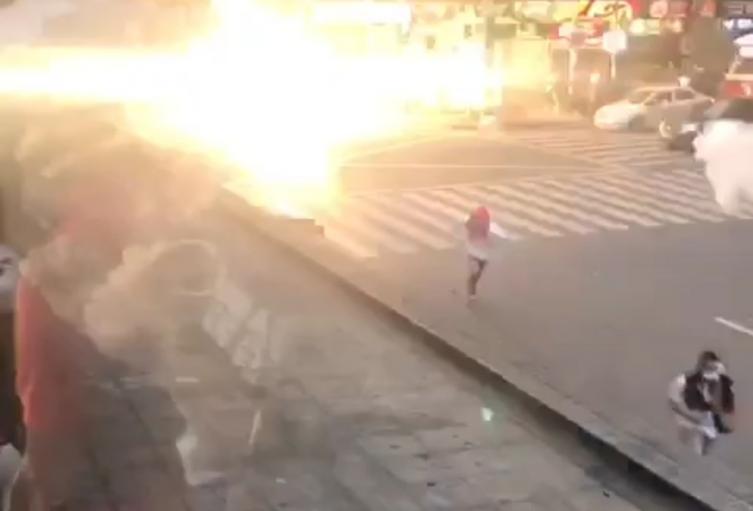 Los disturbios sacudieron nuevamente el centro de Medellín