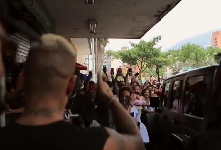 Captura del video posteado en la cuenta de Instagram de Maluma.