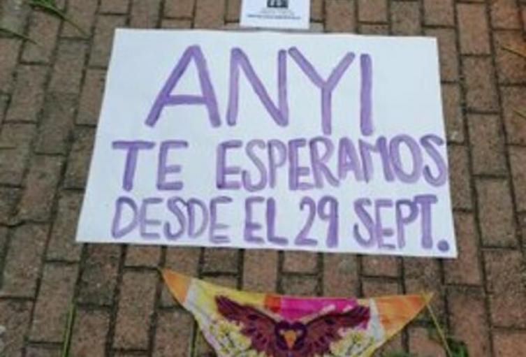 Anyi Carolina desapareció el pasado 29 de septiembre en Entrerríos, Antioquia.