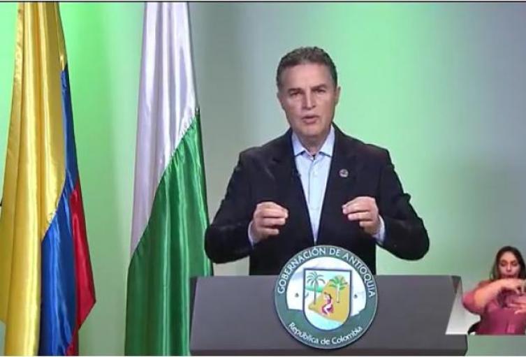 Gobernador de Antioquia, Aníbal Gaviria Correa.