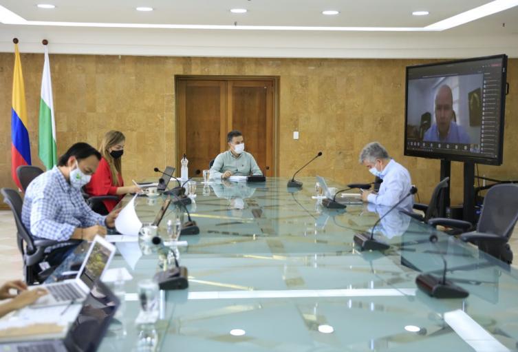 Reunión virtual con los alcaldes del departamento.