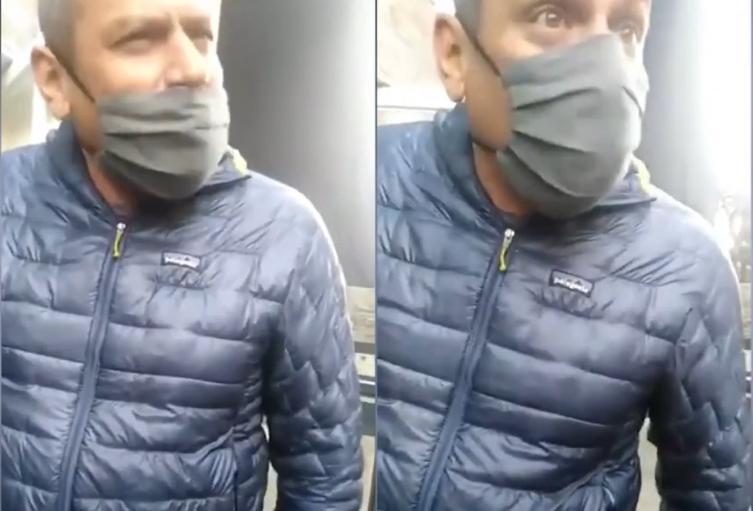 Hombre humilla a repartidor venezolano