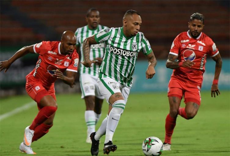 En empate y con polémica terminó el clásico del fútbol colombiano entre Atlético Nacional y América