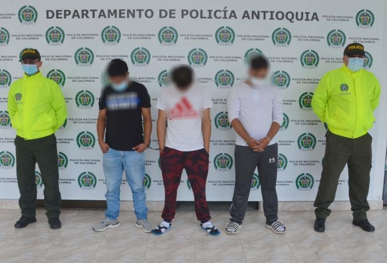 Los detenidos harían parte del combo Pachelly de Bello.